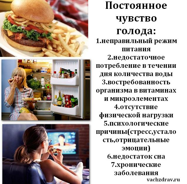 Постоянное чувство голода-причины